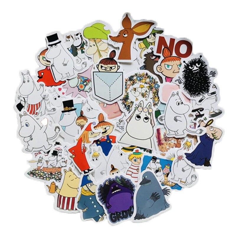 40 шт./компл. Мультяшные наклейки Moomin Hippo Канцтовары милые аниме Животные декоративные наклейки для детей DIY Kawaii Stickers