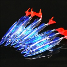 5pcs/lot Soft Lure Wobblers Artificial Bait Silicone Fishing Set Jigging Lures 8cm/6g Lead Jig Spoon Fish