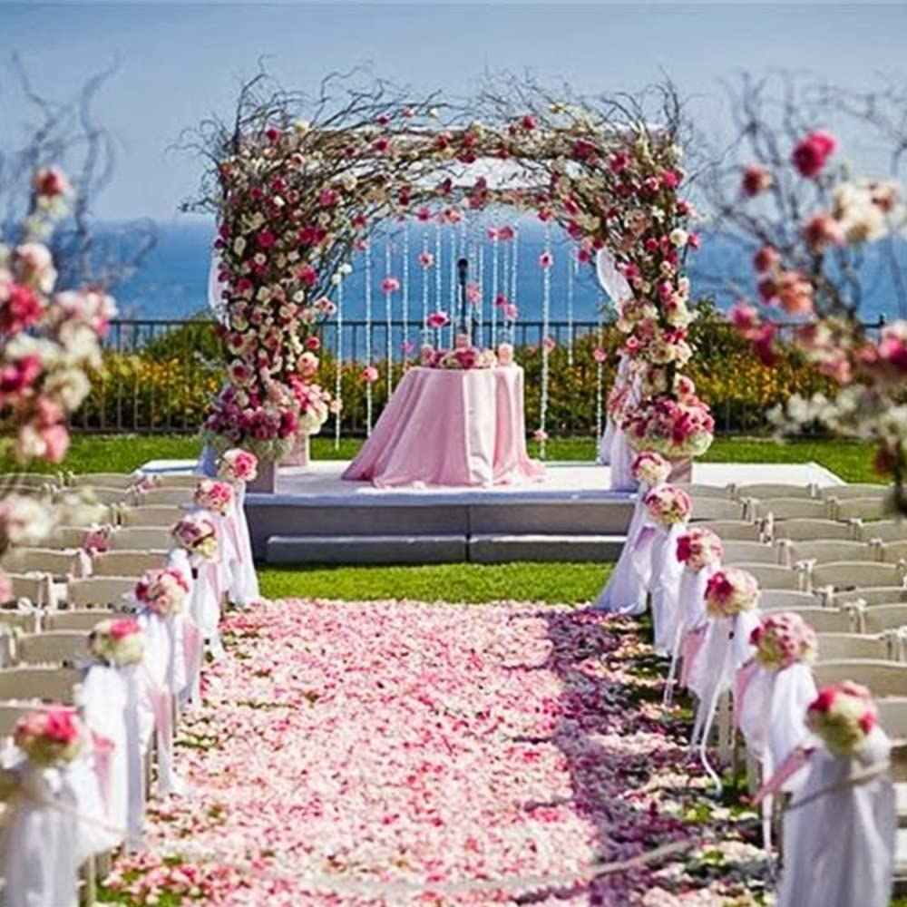 1000pcs Pink Artificial Rose Petals Valentines Day Proposal Wedding Aisle Bridal