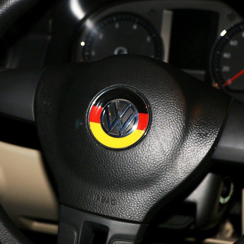 Car Styling Car Steering Wheel Decoration Circle Cover Sticker For Volkswagen Bora Polo Lingdu Tiguan Passat GOLF 6 7 Jetta RS