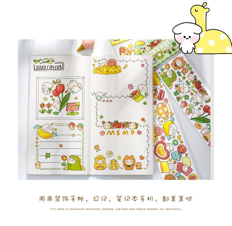decoração DIY washi papel masking tape adesivos de carga separada