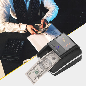 Banknote Bill Detector Denomination Value Counter UV/MG/IR Detection Counterfeit Fake Money Currency Cash Checker or USD EURO 1