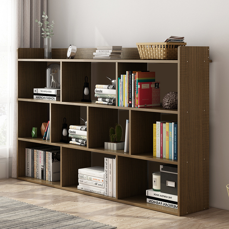 Simple Bookshelf Floor Storage Rack-Style With Bookcase Small Bookcase Table Simple Modern Storage Rack