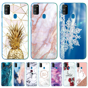 For Samsung M21 Case 6.4 inch Silicone Soft Back Cover For Samsung Galaxy M21 Case Marble TPU Coque for Samsung M 21 Bumper Bags