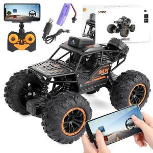 Wireless Rc 4wd Alloy Car Toy Wifi Camera Off-road High-speed Mobile Phone Black Remote Control Vehicle Toy Gift For Boys Kids