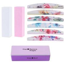 NEE JOLIE White Pink Nail Art Buffer Sanding Files Block Grinding Polishing Manicure Care Makeup for UV Gel Polish Nail Art Tool