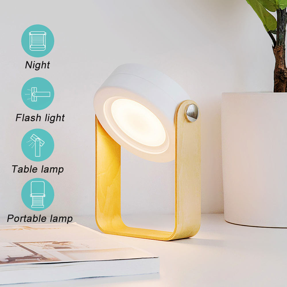 DIDIHOU Foldable Touch Dimmable Reading LED Night Light Portable Lantern Lamp USB Rechargeable For Kids Gift Bedside Bedroom