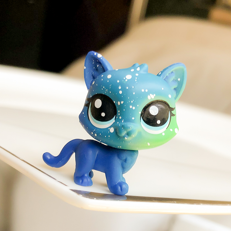 FGHGF LPS Pet Shop The Cosmic Pounce Collection SERIES 3 Figure Collie Cat Animals Loose Cute Kid Toys Figure Y19072901
