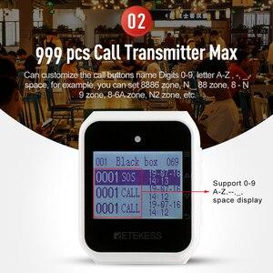 Image 4 - Retekess TD108 izle alıcı kablosuz garson çağrı restoran çağrı müşteri hizmeti mutfak Cafe fabrika diş hekimi kliniği
