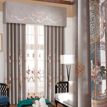 New Chinese Curtains Style for Living RoomSunshade Cotton and Linen Shade Curtains for Bedroom Luxury Curtains