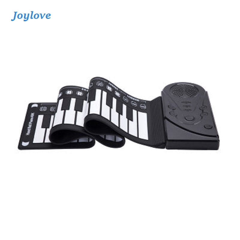 JOYLOVE Portable 49 Keys Flexible Roll Up Piano Folding Silicone Electronic Keyboard For Children Early Learning Education