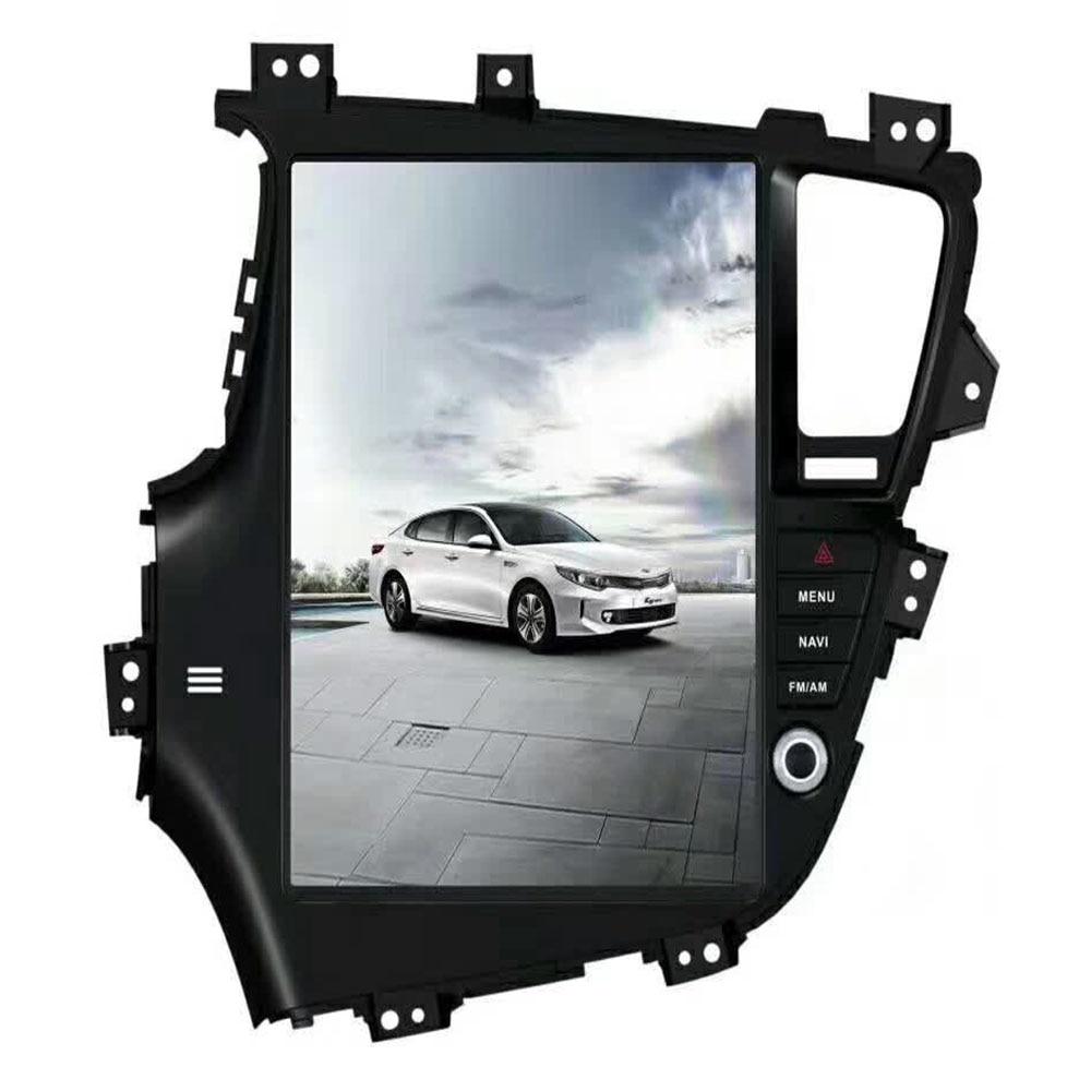 2 DIN Tesla Style Car Radio Android 9.0 For Kia Optima K5 GPS Multimedia Bluetooth Radio WIFI 4G Stereo AUX HD 13