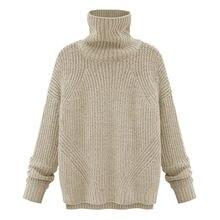 Женские свитера с высоким воротником вязаные пуловеры длинным
