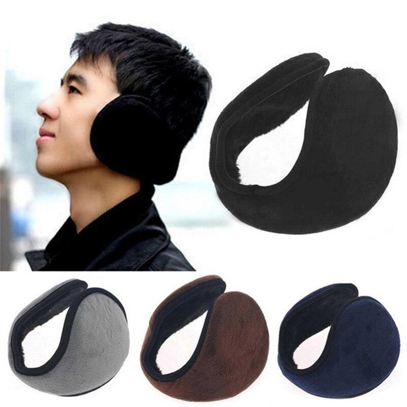 JODIMITTY Unisex Man Plush Ear Muffs Earflaps Winter Warm Flannel Fur Earmuffs Ear Warmer Cover Wrap Band Orejeras Mujer