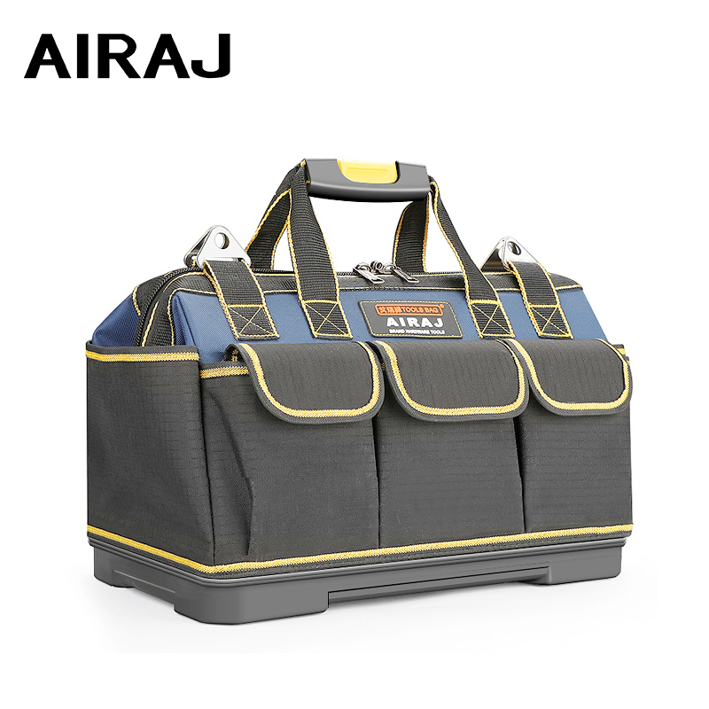 AIRAJ 2019 Upgrade Tool Bag, 13/15/17/19/23 Inch Electrician Bag 1680D Oxford Waterproof Wear-resistant Tool Storage Toolkit
