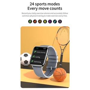 Image 5 - Smartwatch l1 2021, à prova dágua, monitoramento de frequência cardíaca, lembrete de chamada/mensagem, fitness, esporte, bluetooth, para android, ios