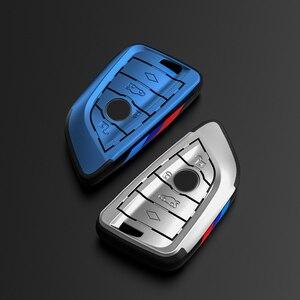 Image 1 - Placcatura Chiave Remote Controller Supporto del Sacchetto fit bmw lama KeyChain di chiave Dellautomobile di Caso Della Copertura per BMW X1 X5 X6 F15 f16 F48 BMW 1 / 2 Serie