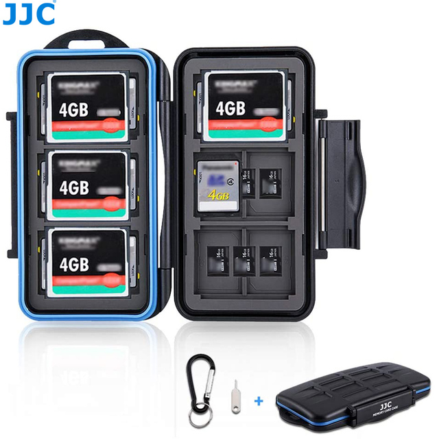 JJC Memory Card Case Holder Storage Box Organizer for SD SDHC SDXC MSD CF Cards for Canon Nikon Sony Fuji DSLR Mirrorless Camera