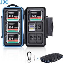 JJC זיכרון כרטיס מקרה מחזיק תיבת אחסון ארגונית עבור SD SDHC SDXC MSD CF כרטיסי עבור Canon Nikon Sony Fuji DSLR ראי מצלמה