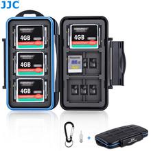 JJC przypadku karty pamięci uchwyt schowek organizator dla SD SDHC SDXC MSD CF karty dla Canon Nikon Sony Fuji DSLR lustrzanka tanie tanio DSLR Camera CN (pochodzenie) Waist pack Akcesoria Do aparatu Torby Memory Card Case ABS + Silicone + Rubber Phone Camera