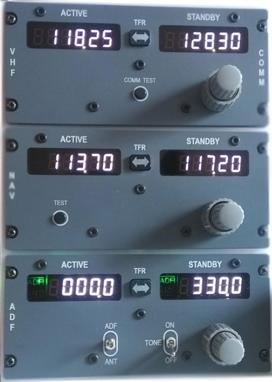 Simulation Flight Radio Breadboard COM+NAV+ADF,PMDG737/IFLY737/LevelD767