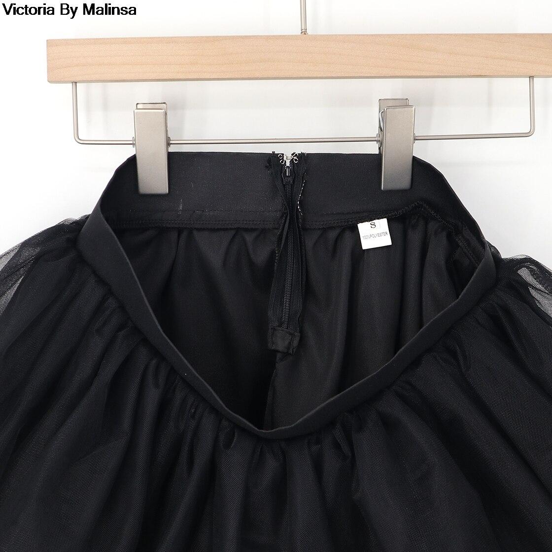 Image 5 - تنورة صغيرة من التول باللون الأبيض للنساء ، تنورة قصيرة منتفخة من قماش التول ، تنورة قصيرة منتفخة من قماش التتوتو مصنوعة حسب الطلب-في تنانير من ملابس نسائية على AliExpress