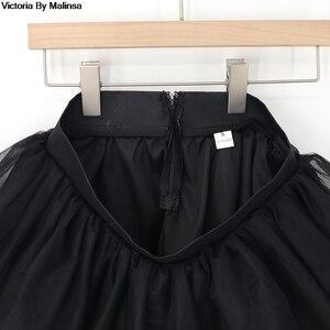 Image 5 - Mode femmes blanc Mini Tulle jupe fée noir Secret saia Voile Bouffant jupe bouffante courte Tutu jupes sur mesure