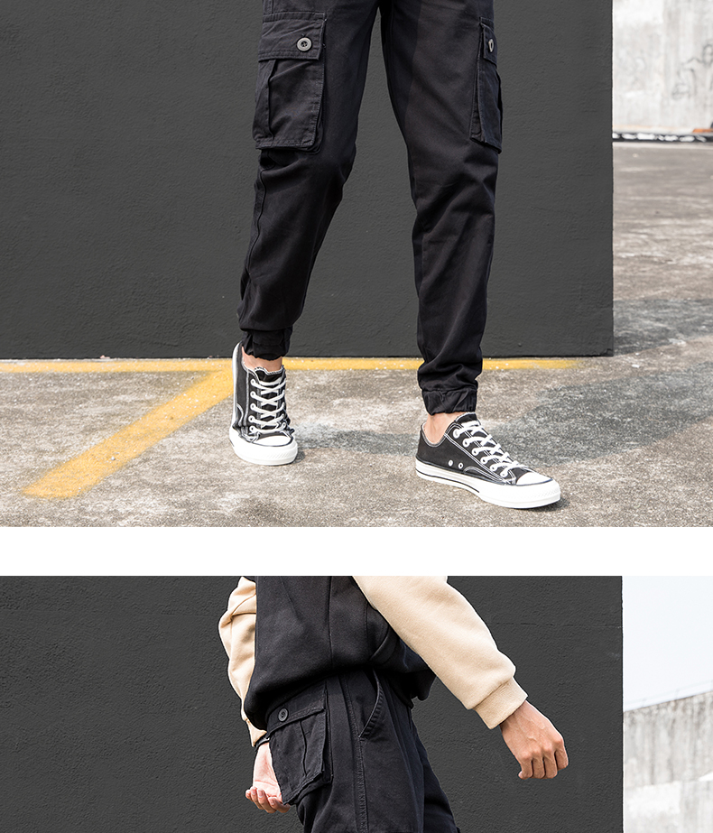 KSTUN Cargo Pants Men Summer Thin Male Overalls Loose fit Trousers casual pants joggers men's clothing brand soft 100% cotton 22