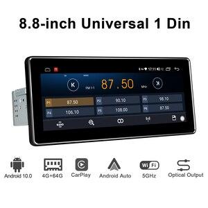 Image 4 - 8.8 pouces IPS écran Android 10.0 simple din lecteur dautoradio Octa Core 4 go de Ram + 64 go Rom intégré 4G & DSP module audio stéréo GPS