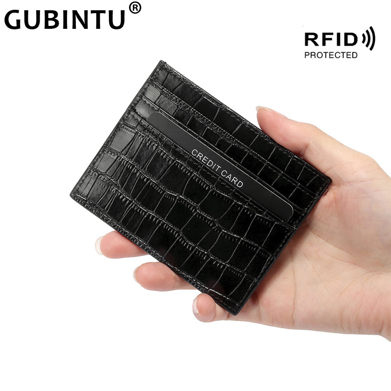 Classic Crocodile Pattern Card Holder Men Women Genuine Leather Leather Credit Card Case ID Holders Card Wallet Slim Purse Pouch