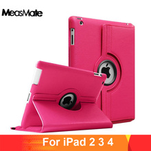360 Degrees Rotating PU Leather Flip Cover Case for iPad 2 3 4 Case Stand Cases Smart Tablet A1395 A1396 A1416 A1430 A1458 A1460 цена
