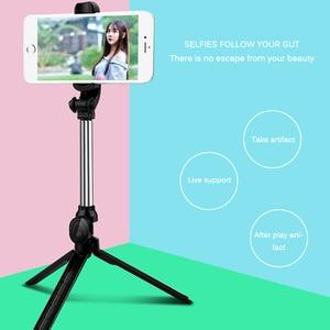 Image 5 - NEW Retractable Handheld Tripod Selfie Stick Bluetooth Extendable Monopod Selfie Stick Tripod for iPhone Samsung HuaWei XiaoMi