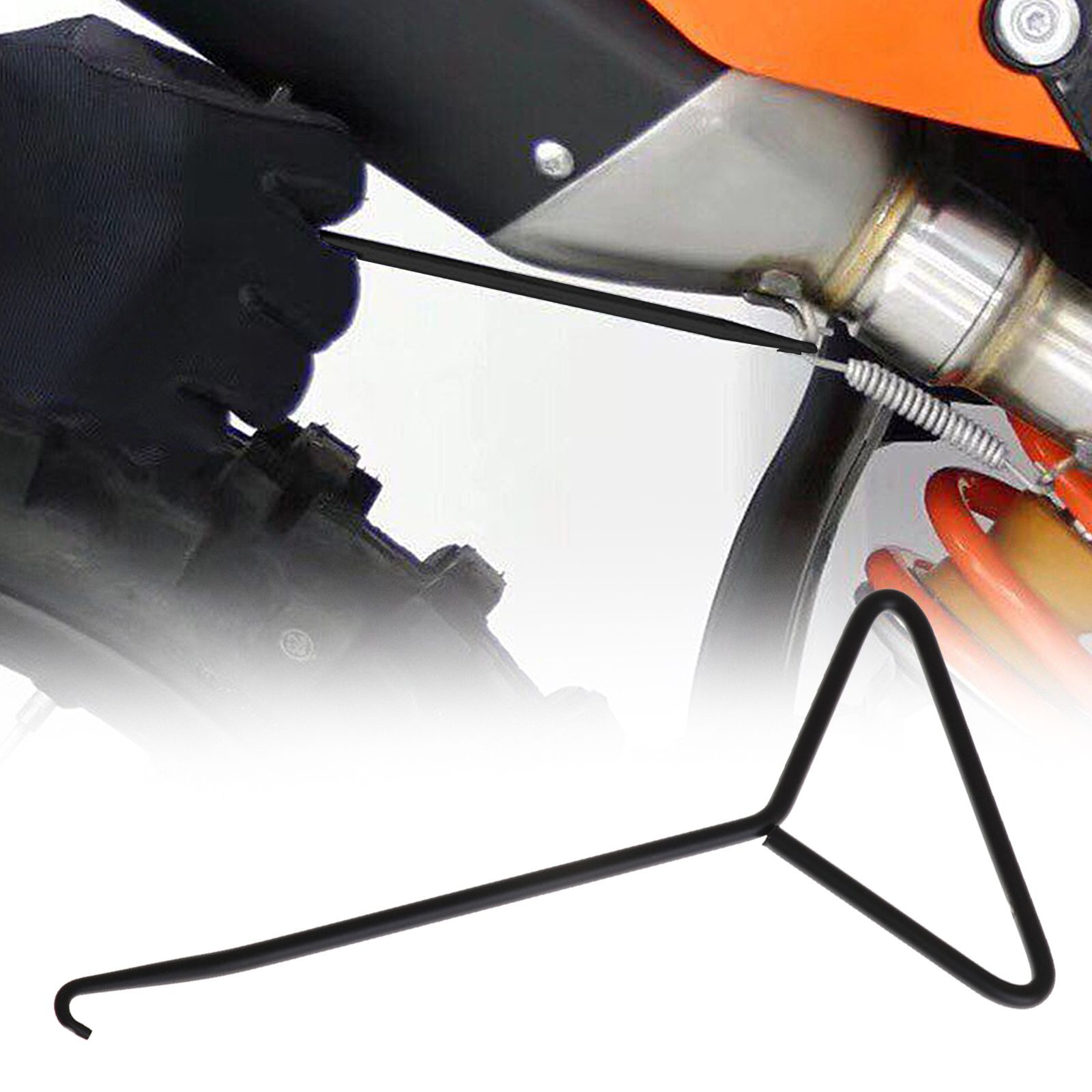 1PC Stainless Steel Motorcycle Exhaust Stand Spring Hook Puller Tool  Dirt Scooters Car Wash Maintenance Car Accessories