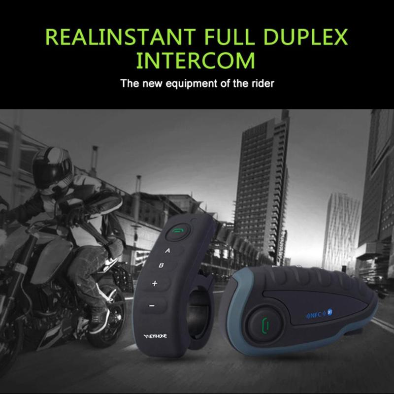 Bluetooth Headset Fernbedienung Griff NFC Spiele Handy Motorrad BT Wireless Intercom FM V8 5 Reiter Helm - 3
