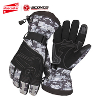 SCOYCO Motorcycle Gloves 100% Windproof Waterproof Winter Guantes Moto Gloves Touch Screen Gant Moto Motorbike Riding Gloves