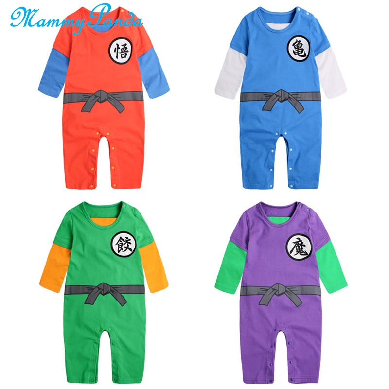 NEW Dragon Ball Z Goku Romper Baby Infant Jumpsuit Overall Children Body Clothes