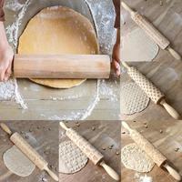 Rodillo de madera maciza para cocina, herramientas para cocinar y hornear galletas, rodillo de masa para pasteles, bastón de madera