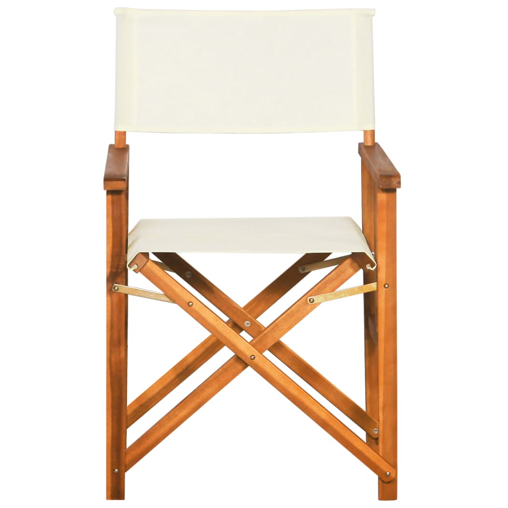 vidaXL Outdoor Furniture Director's Chair Solid Acacia Wood Foldable Garden Chairs