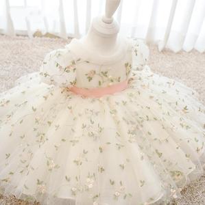 Nouveau-né bébé fille robe florale Tulle 1 an robe d'anniversaire nouvelle mode princesse bébé fille robe infantile vêtements enfant en bas âge robes