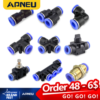 цена на Pneumatic Fittings Air compressor Water hose tube pneumatic connector plastic joint fitting hvff pu sa pu py pv pe pk 4 6 8 12mm