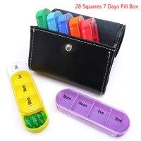Портативный 28 квадратов еженедельно 7 дней таблетки коробка держатель лекарств хранения коробки Органайзер Контейнер Чехол