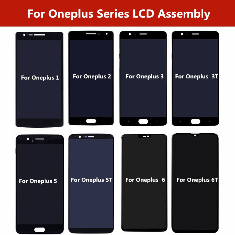 LCD Display Touch <font><b>Screen</b></font> Digitizer Assembly <font><b>Replacement</b></font> For <font><b>Oneplus</b></font> 1+<font><b>2</b></font> 3 3T 5 5T 6 6T <font><b>Screen</b></font> Repair For <font><b>Oneplus</b></font> 6T 6 5T 5 3T 3 image