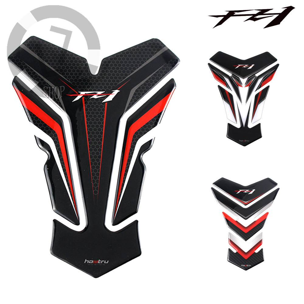 With logo FZ1 for Yamaha FZ1 <font><b>FZ</b></font> 1 FZ1N 3D tank pad protector for motorcycle decal <font><b>stickers</b></font> image