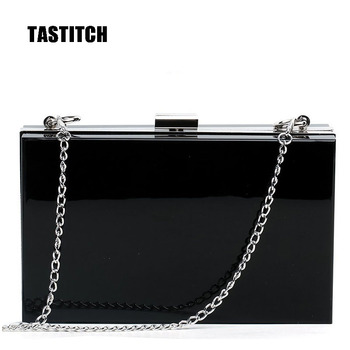 Fashion Black Acrylic Handbags Elegant Clutches Women Messenger Shoulder Bags Party Prom Wedding Evening Bag Bridesmaid bag new fashion colorful women bag brands bridal wedding clutches women evening bag party banquet elegant girls handbags with chain