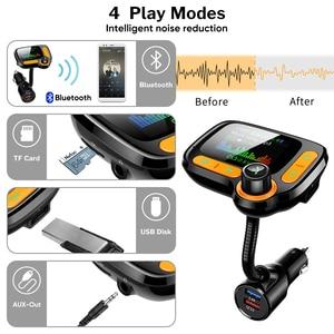 Image 3 - Deelife רכב MP3 נגן Bluetooth לרכב משדר FM מודולטור עם צבע מסך AUX אוטומטי מוסיקה מתאם QC 3.0 USB מטען