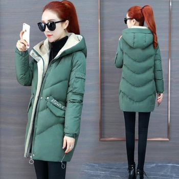 2020 Women Winter Jacket Hooded Warm Coat Plus Size Green Cotton Padded Jacket Female Long Parka Women Wadded Jaqueta Feminina