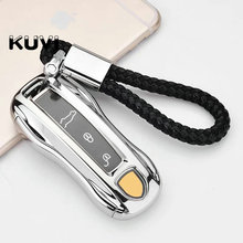 PC+TPU car key cover case shell fob For Porsche Cayenne Macan 911 Boxster Cayman Panamera Key Case Car-Styling Accessories цена