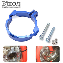 цена на TE310I TC TE 250 Moto CNC Exhaust Outlet Pipe Muffler Clamp Adaptation Flange For Husqvarna TC250 TE250 TE300 TX300 TE TX 300