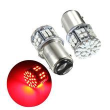 цена на 2Pcs Red Turn Signal Lamps Bulb Super Bright BAY15D 1157 50 SMD 1206 LED Car Brake Light 12V 50 LEDs Auto Rear Tail Lights