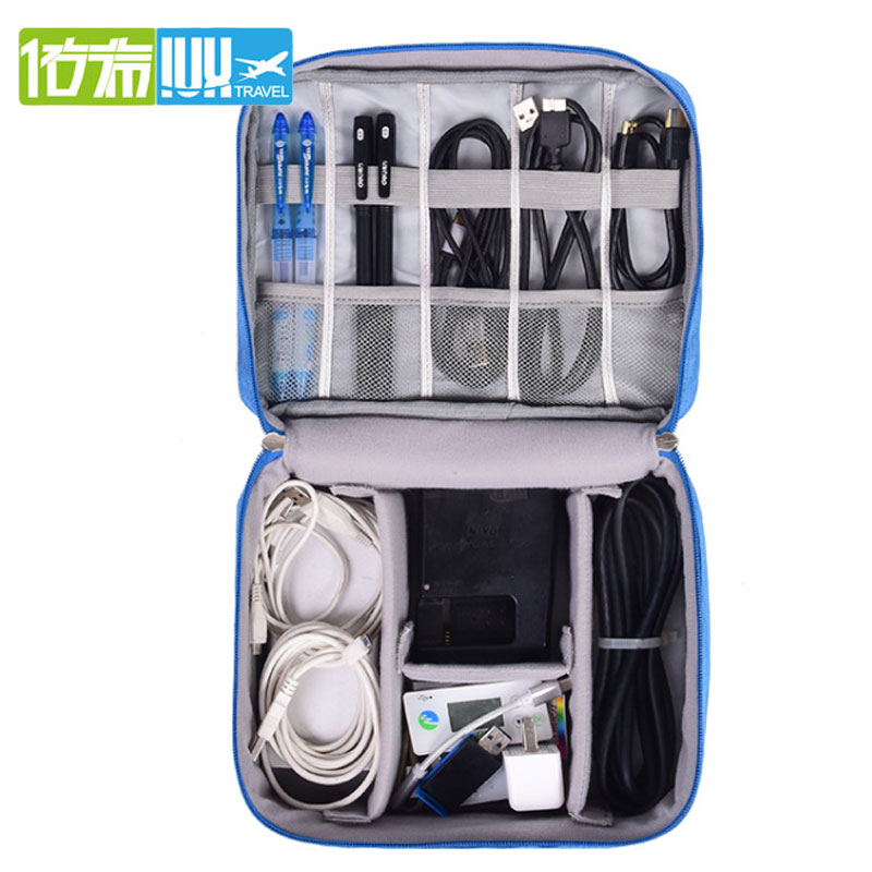 2020 Digital Storage Bag USB Data Cable Organizer Earphone Wire Bag Pen Power Bank Travel Kit Case Pouch Electronics Accessories